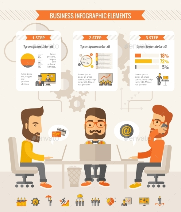 GraphicRiver Business Infographic Elements 10608297