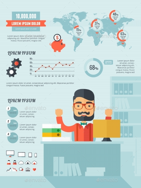 GraphicRiver Technology Infographic Elements 10608306
