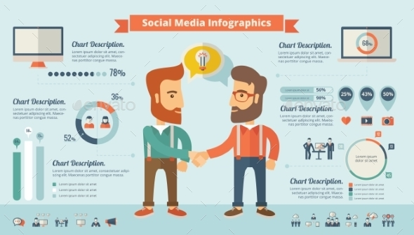 GraphicRiver Social Media Infographic Elements 10608310