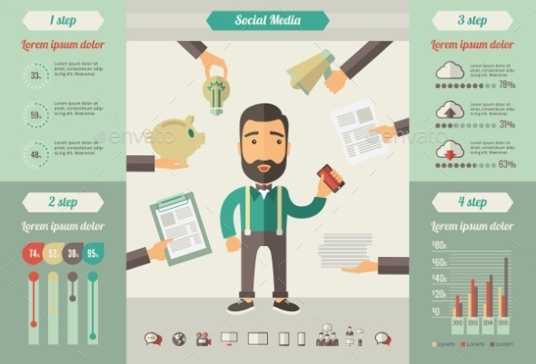 GraphicRiver Social Media Infographic Elements 10608312