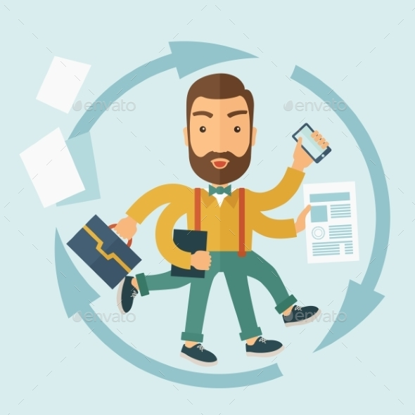 GraphicRiver The Man Capable of Multitasking 10608319