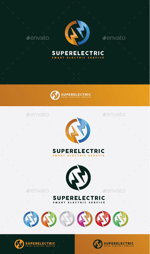 GraphicRiver Super Electric Logo 10608356