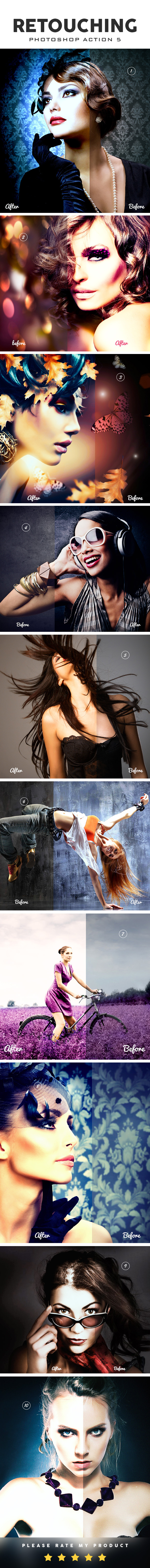 GraphicRiver Retouching Photoshop Action 5 10608358