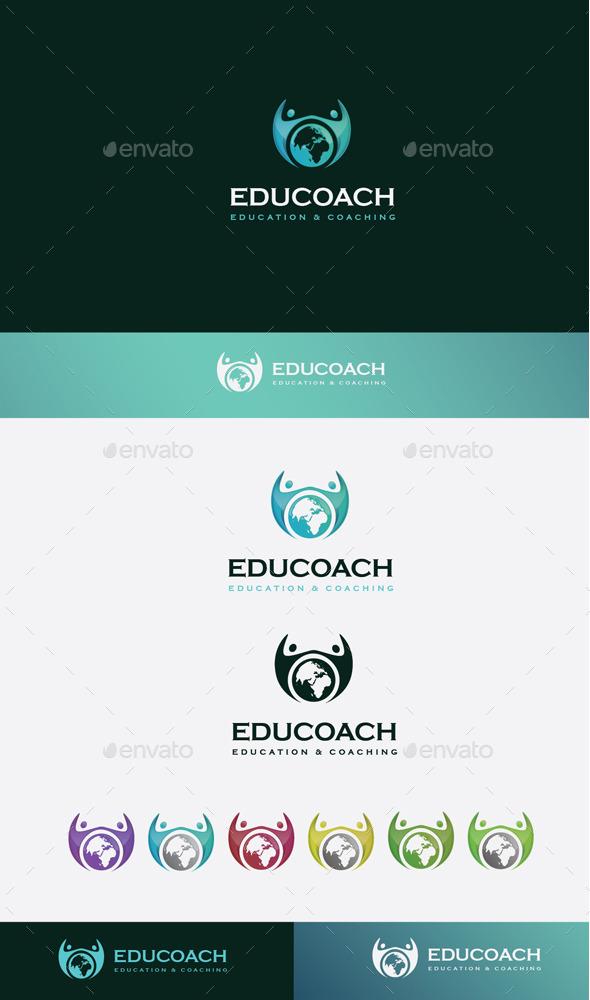GraphicRiver Education Coach Logo 10608360