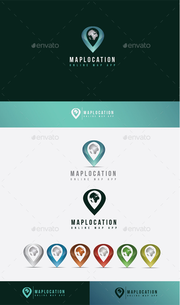 GraphicRiver Map Location Logo 10608362