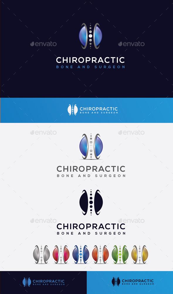 GraphicRiver Bone Chiropractic Logo 10608364