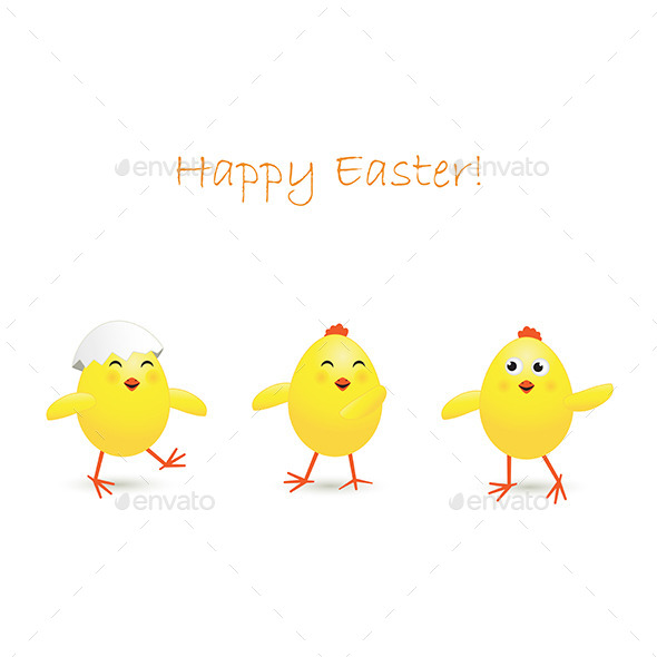 GraphicRiver Three Easter Chicken 10608654