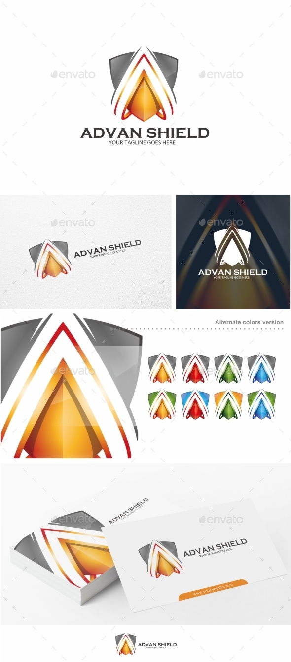 GraphicRiver Shield Letter A Logo Template 10608776