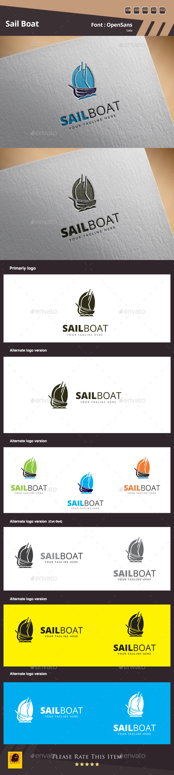 GraphicRiver Sail Boat Logo Template 10608905