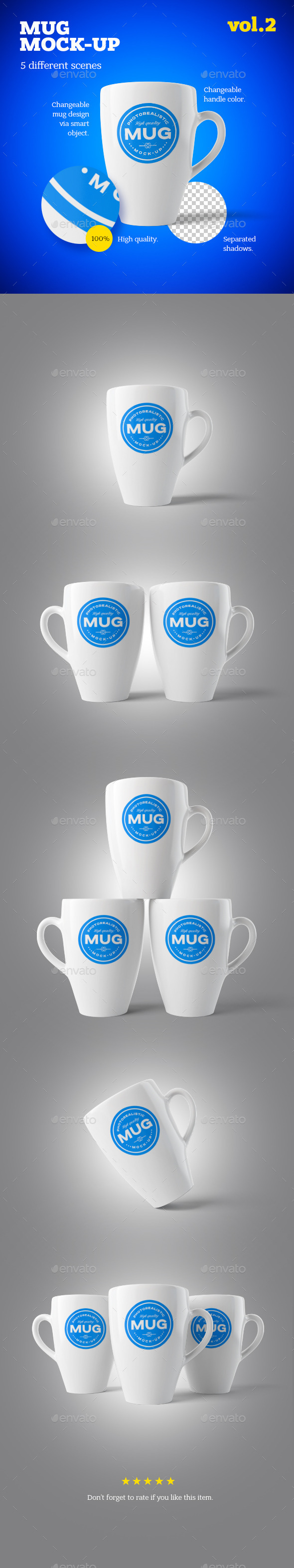 GraphicRiver Mug Mock-up Vol.2 10589814