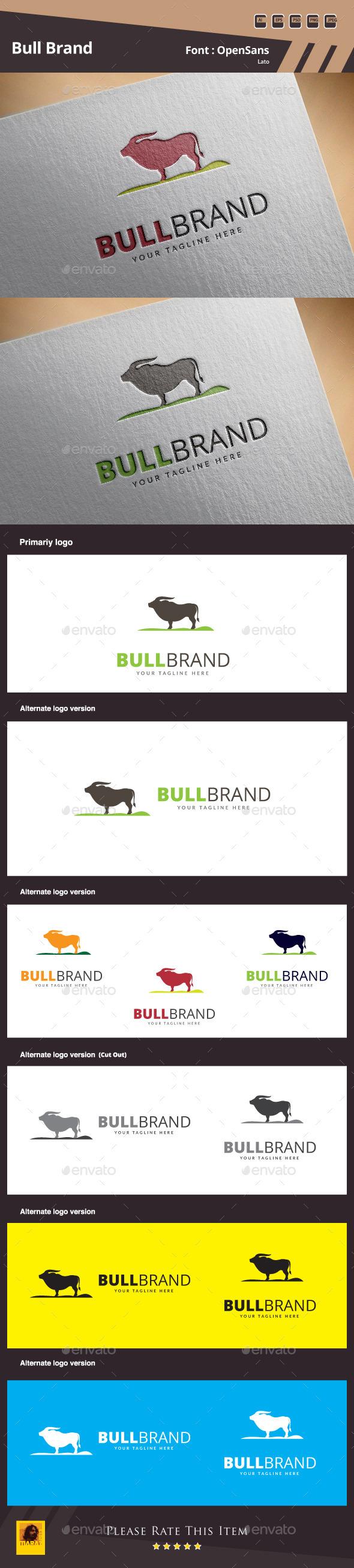 GraphicRiver Bull Brand Logo Template 10608938