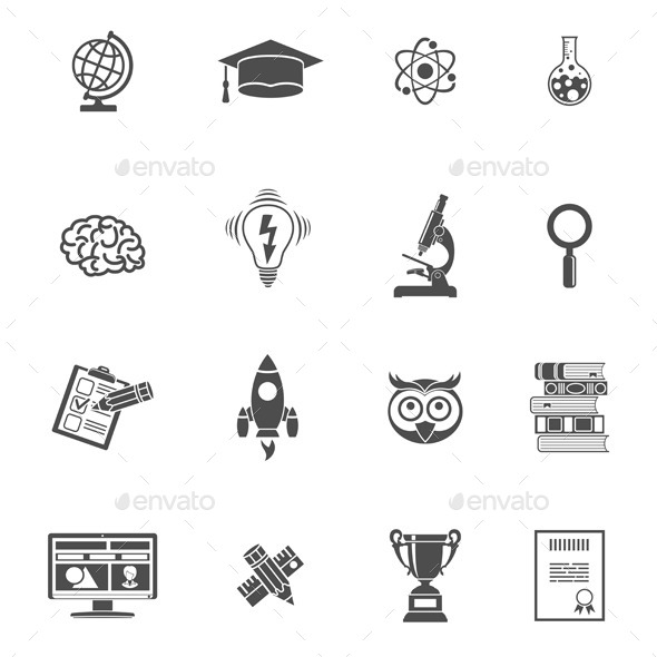 GraphicRiver Education Icon Set 10609052