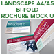 Landscape A4_A5 Bi-fold Brochure Mock Up - GraphicRiver Item for Sale