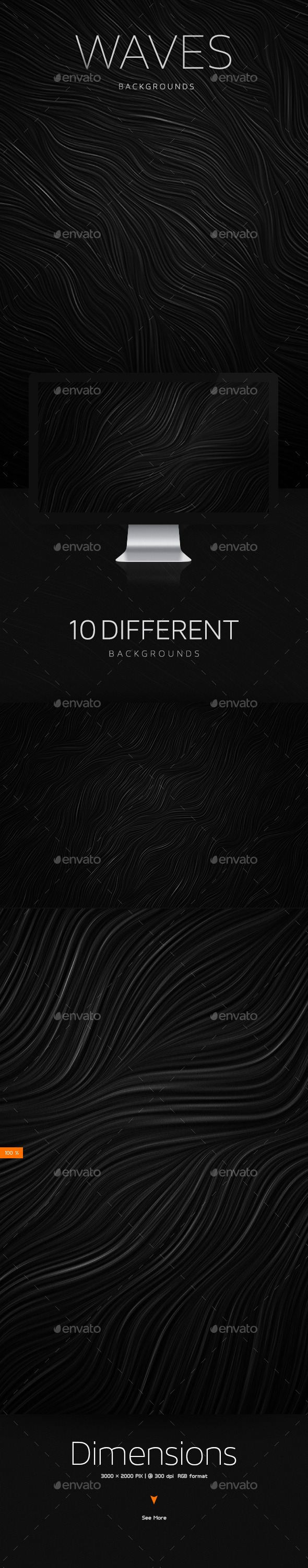 GraphicRiver Waves Subtle Textures Backgrounds 10609497