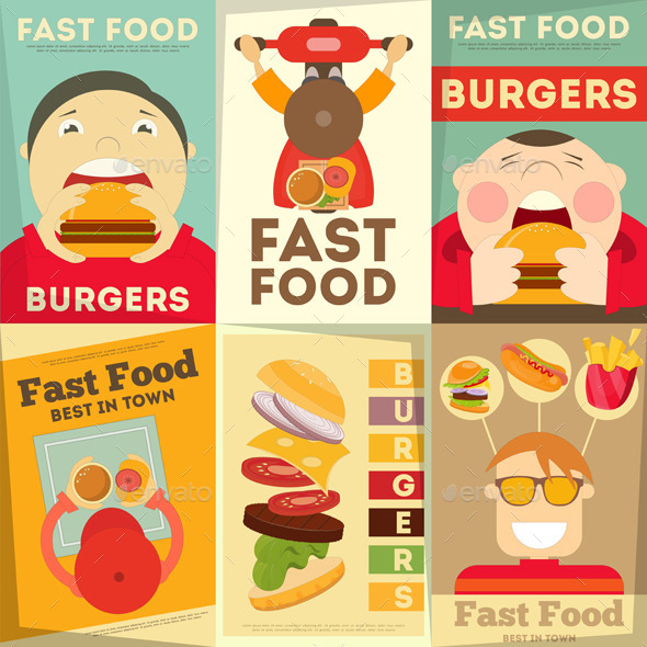 GraphicRiver Fast Food Posters 10609585