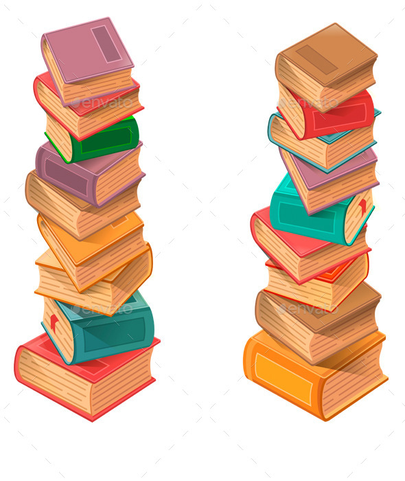 GraphicRiver Stack of Books 10609593