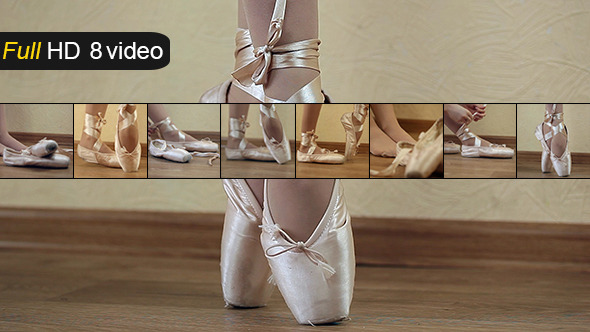 VideoHive Women Ballet Shoes 8 pack 10609613