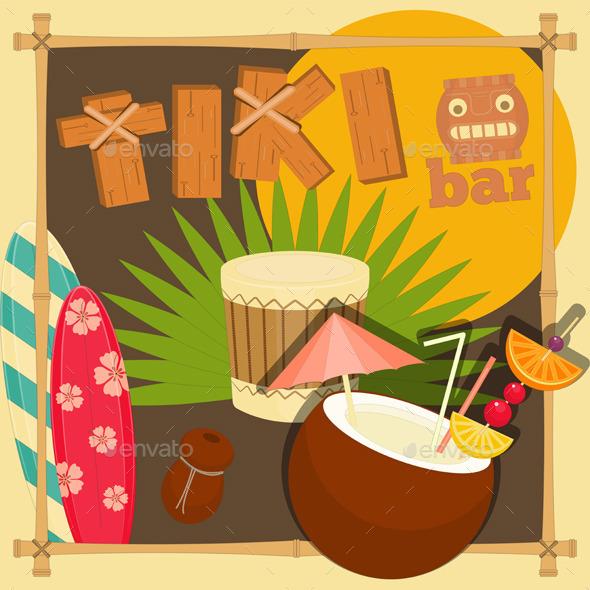 GraphicRiver Tiki Bar Hawaii 10609634