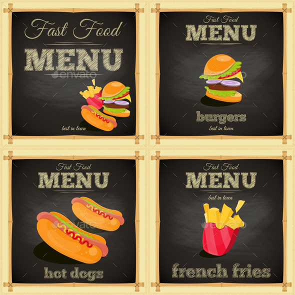 GraphicRiver Fast Food Chalkboard 10609890