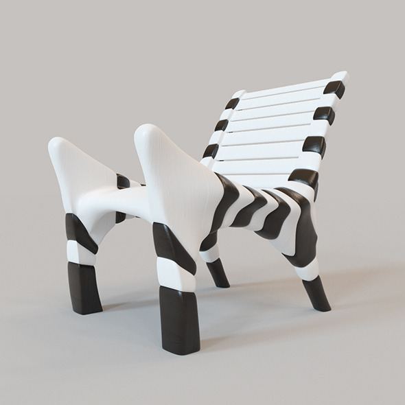 Zebra chair - 3DOcean Item for Sale