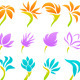 Beach Flowers Set - GraphicRiver Item for Sale