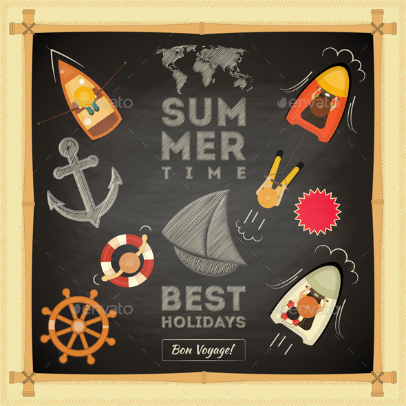 GraphicRiver Summer Card 10610470