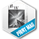 B&W Magazine Template - GraphicRiver Item for Sale