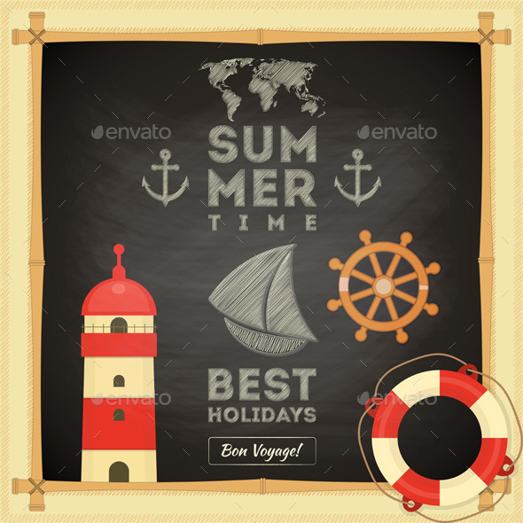 GraphicRiver Summer Card 10610713