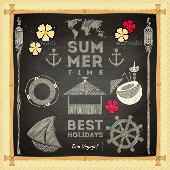 GraphicRiver Summer Card 10610773