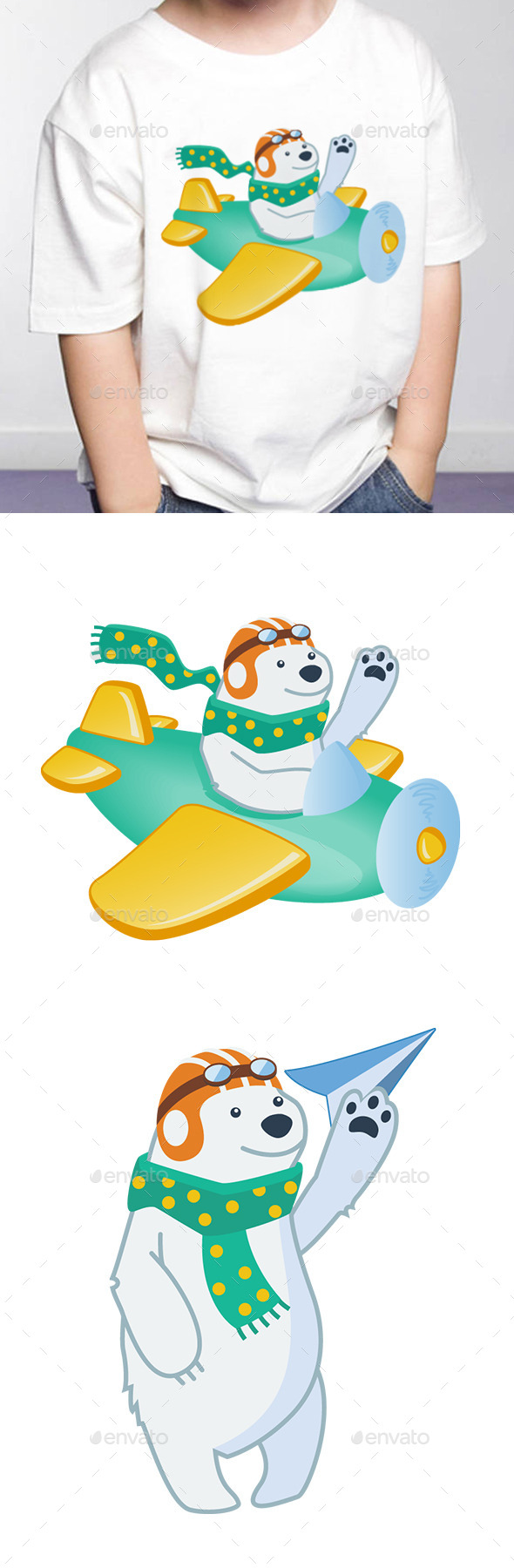 GraphicRiver Polar Bear Pilot 10610804