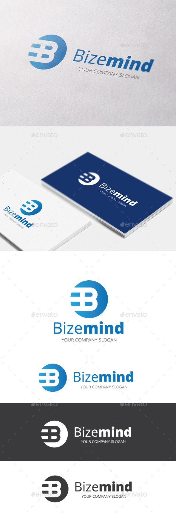 GraphicRiver Bizemind B Letter Logo 10611091