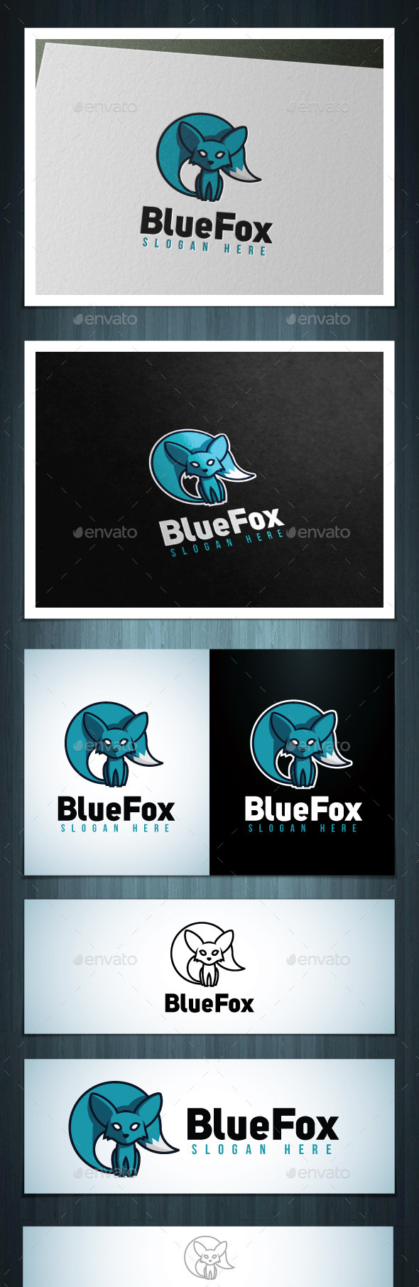GraphicRiver Blue Fox 10611111