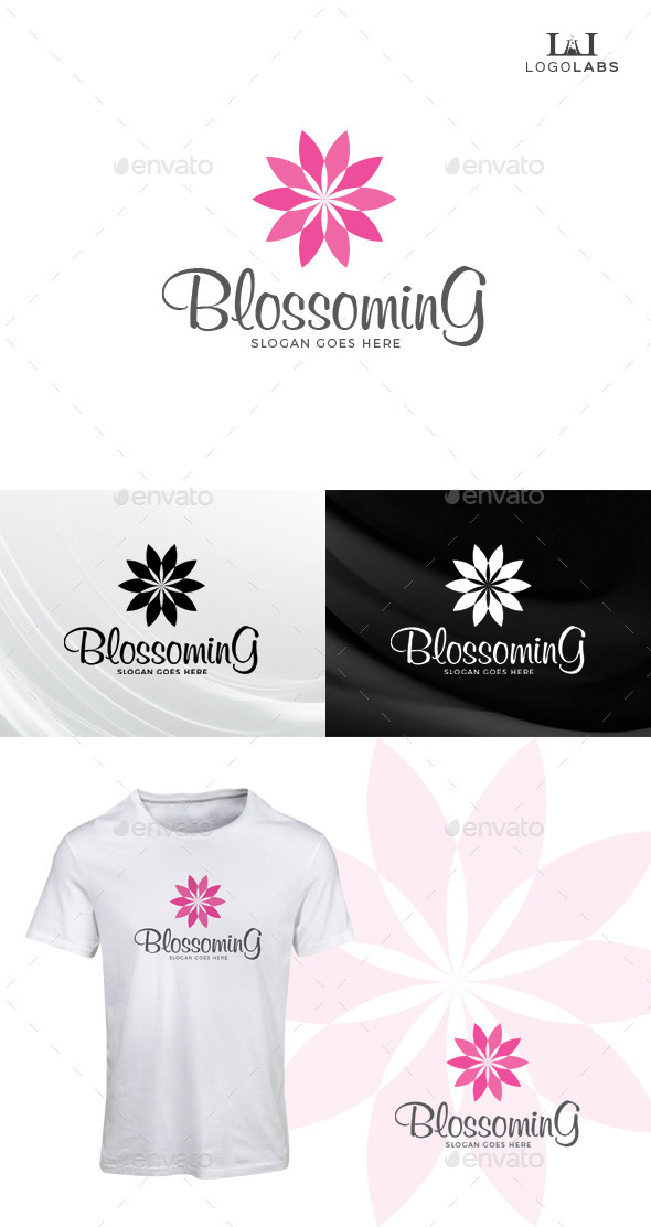 GraphicRiver Blossoming Flower Logo 10611364