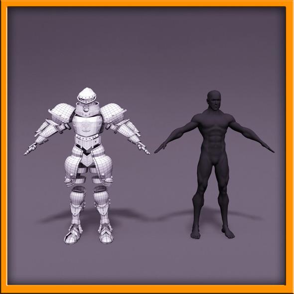 3DOcean Knight armor 10612188