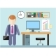 Businessman in Office - GraphicRiver Item for Sale