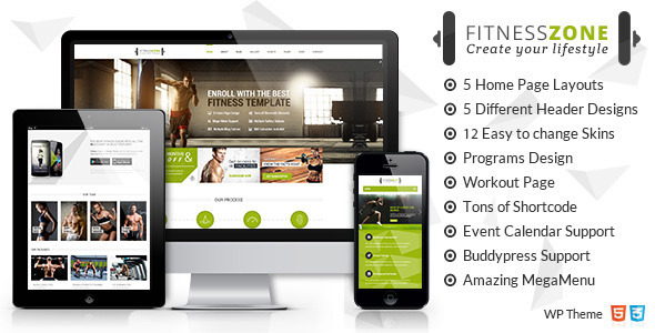 ThemeForest Fitness Zone Gym WordPress Theme 10612256