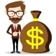 Businessman with a Bag of Money  - GraphicRiver Item for Sale