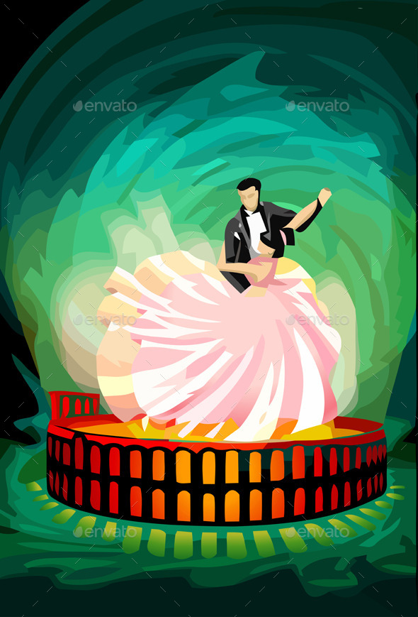 GraphicRiver Ballroom Dancing Couple on Magic Arena 10612296