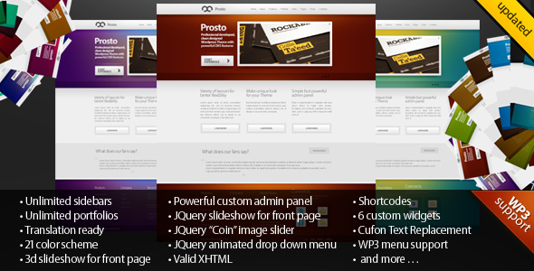 Prosto - Business & Portfolio, CMS WordPress theme