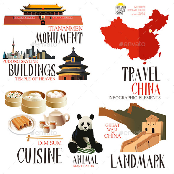GraphicRiver Infographic Elements for Traveling to China 10612932