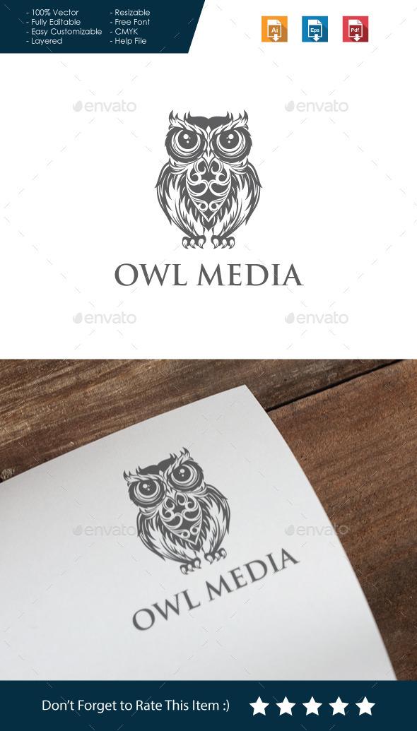 GraphicRiver Owl Media Logo 10613043