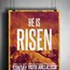 He is Risen Church Flyer/Poster - GraphicRiver Item for Sale