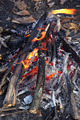 Close up of an outdoor fire burning. - PhotoDune Item for Sale