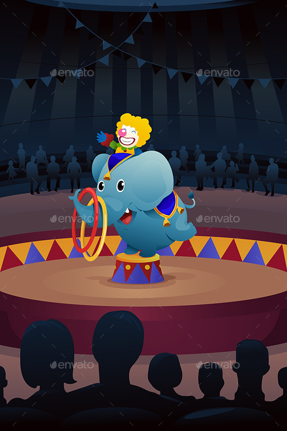 GraphicRiver Circus Performance Background 10613934