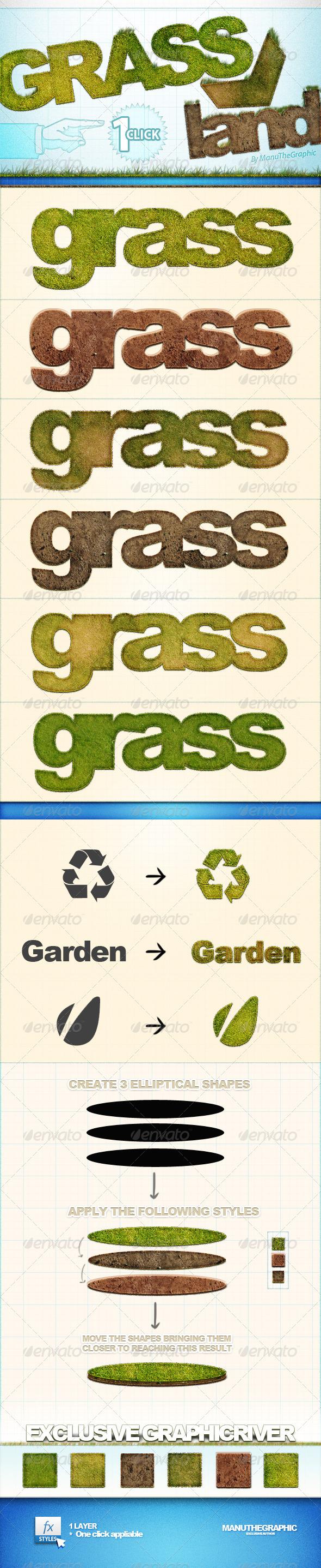 GrassAndLand Styles - Text Effects Styles