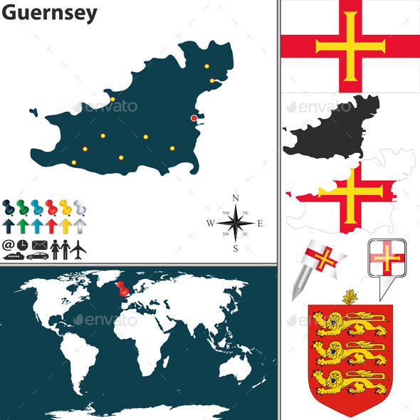 GraphicRiver Map of Guernsey 10614302