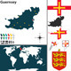Map of Guernsey - GraphicRiver Item for Sale