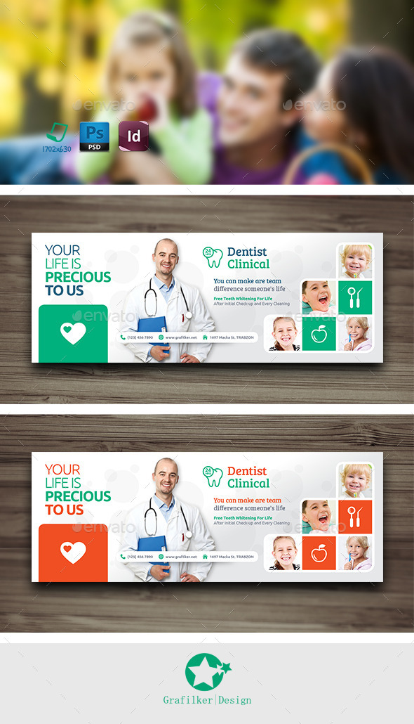 GraphicRiver Dental Cover Templates 10614312