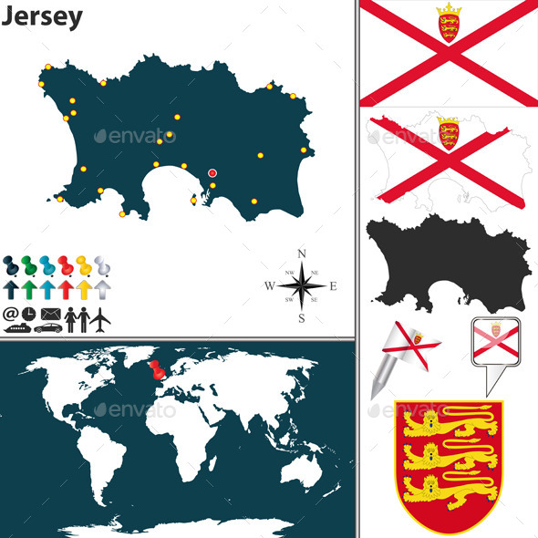 GraphicRiver Map of Jersey 10614313