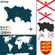 Map of Jersey - GraphicRiver Item for Sale